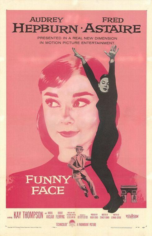 """Cartel de la película """"Una cara con ángel"""" (título original """"Funny Face"""")"""