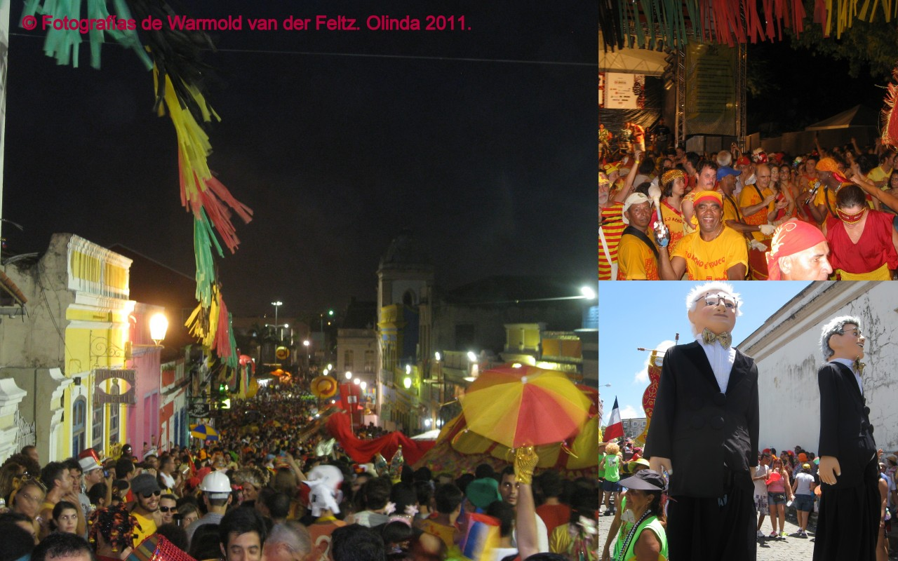 Bonecos. Maracatú. Dragón. Carnaval en Olinda 2011.