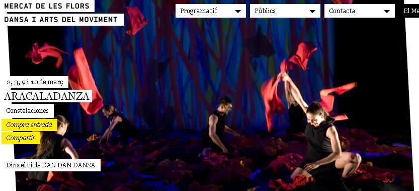 Vamos a ver… CONSTELACIONES, el universo de Miró recreado por ARACALADANZA. Espectáculo familiar de danza (para niños a partir de 4 años o menores -solo 50 minutos deduración-)