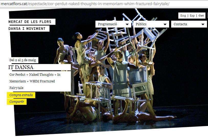 Dicho y hecho… 21 personas hemos ido a ver IT Dansa interpretar piezas de Duato/Bonachela/Cherkaoui/Ekman en el Mercat de lesFlors