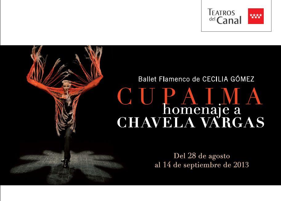 Cartel CUPAIMA Ballet Flamenco de CECILIA GOMEZ en Teatros del Canal
