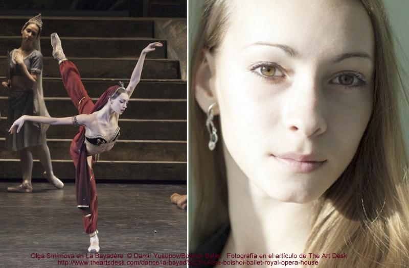 © Damir Yusupov/Bolshoi Ballet . Olga Smirnova in La Bayadère del Bolshoi en Royal Opera House en Londres