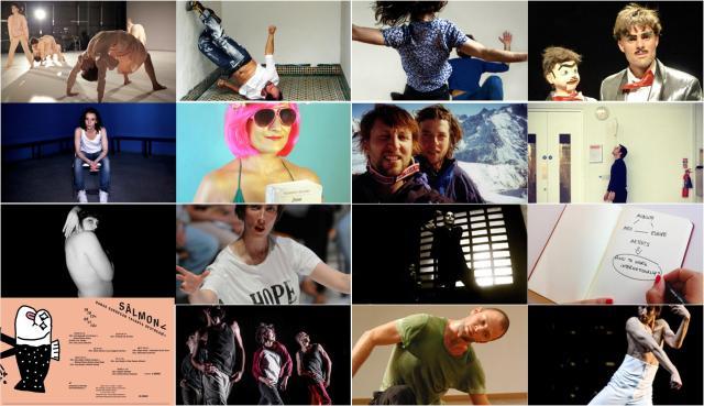 Collage con las fotografías de los carteles de los diferentes eventos del Festival SÂLMON< 2013.