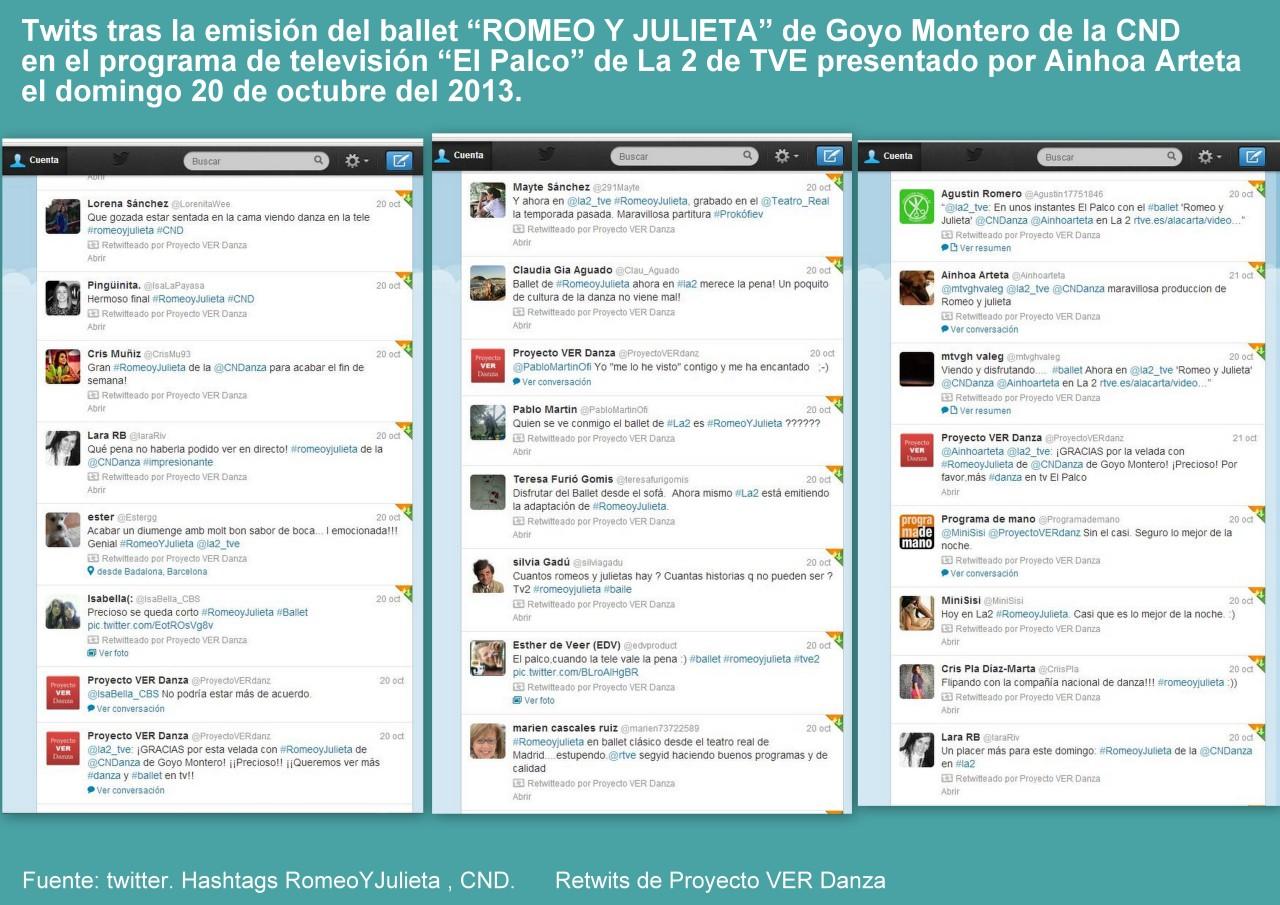 Twits tras ROMEO Y JULIETA en La 2
