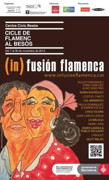 Cartel (in)fusión flamenca 2013. Centre Cívic del Besòs, Barcelona