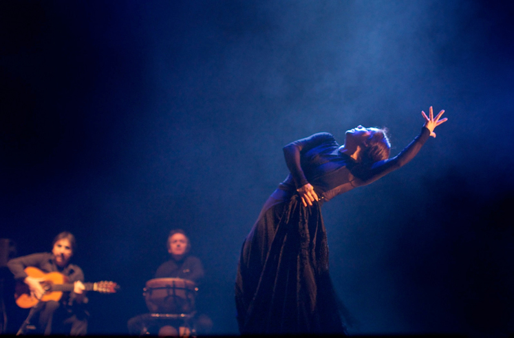 Eva Yerbabuena, estreno de '¡Ay!' en Londres (Foto César Moreno Linde). Fotografía tomada de la web del Festival Temporada Alta http://www.temporada-alta.net/. Actuación en Girona el sábado 23/11/2013 a las 21h