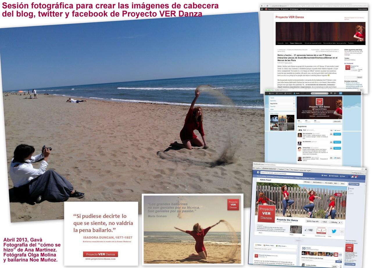 Proyecto VER Danza Como se hizo fotos cabecera