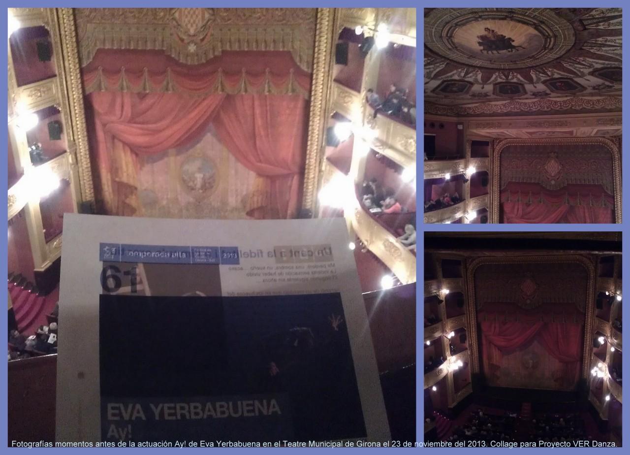 Fotografías en el precioso Teatre Municipal de Girona momentos antes de que empezase la actuación Ay! de Eva Yerbabuena