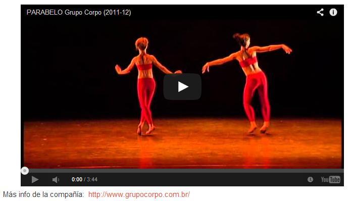 3 minutos para gozar, étnico, popular, clásico y contemporáneo, PARABELO de GRUPO CORPO, de Belo Horizonte enBrasil
