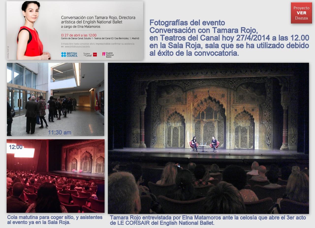 Collage ENTREVISTA CONVERSACION CON TAMARA ROJO