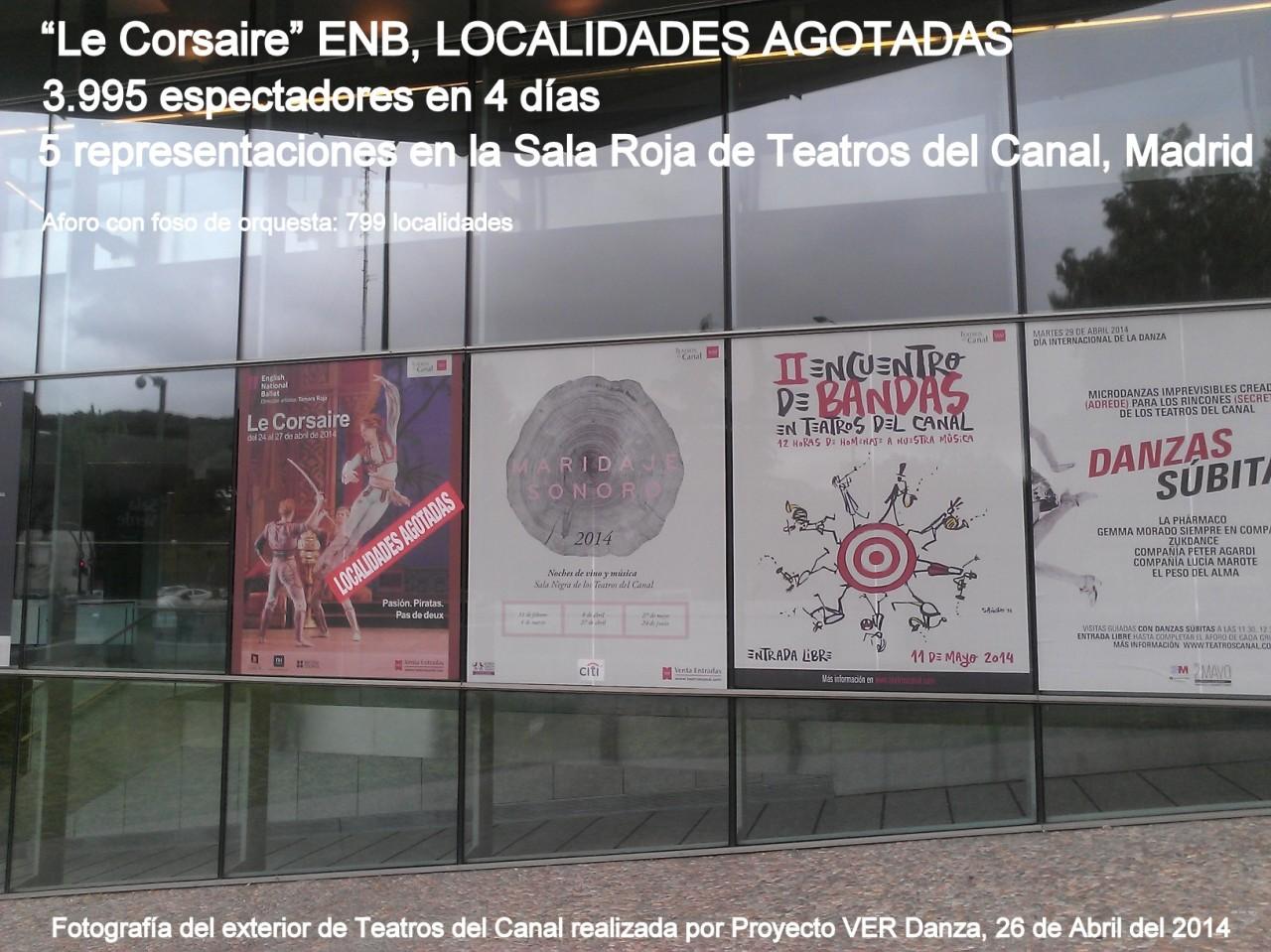 """El público madrileño entusiasmado con el Ballet """"LE CORSAIRE"""" del ENB. Gracias Tamara Rojo por traernos esteballet"""