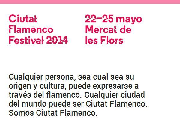 """Del 22 al 25 de mayo festival 2014 CIUTAT FLAMENCO. No os perdáis ni a Eva Yerbabuena con """"¡AY!"""" ni a SolPicó"""