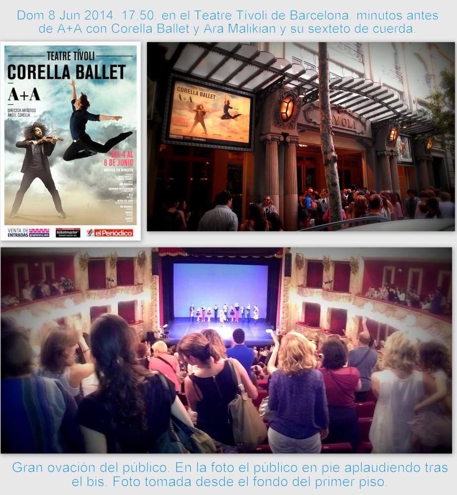Ángel Corella y Ara Malikian: puro virtuosismo y conexión con el público. ¡Bravo por el estreno mundial de A+A en el Teatre Tívoli! (1/2)