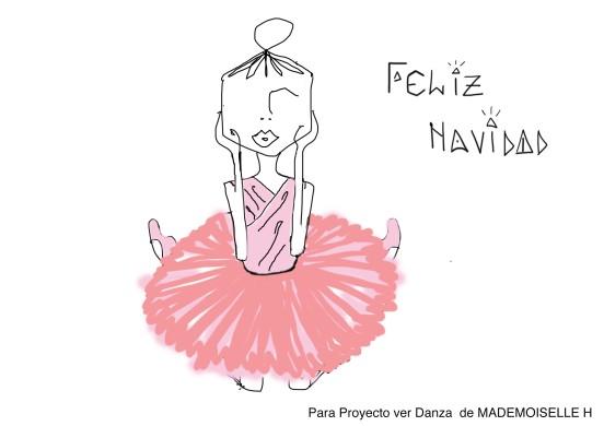 ¡Feliz Navidad! Ilustración de Madmoiselle H para Proyecto VER Danza