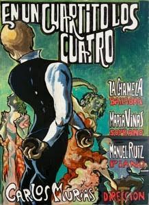Cartel de EN UN CUARTITO LOS CUATRO Carlos Murias piano castañuelas