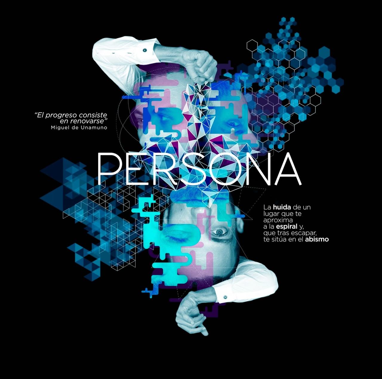 Cartel promocional de PERSONA, de SPIN OFF DANZA, presentado en el Ciutat Flamenco 2015, en el Mercat de les Flors