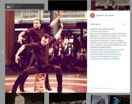 Daniel Doña Compañía de Danza Española en el vestíbulo del Mercat