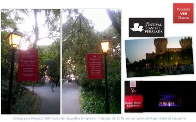 Collage de fotografías tomadas en el Castell Peralada el 11 de julio del 2015, 2o día de actuación del Béjart Ballet Lausanne.