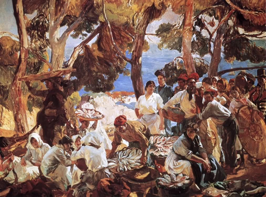 Joaquín Sorolla Bastida - Visión de España -10 El pescado, Cataluña. 1915