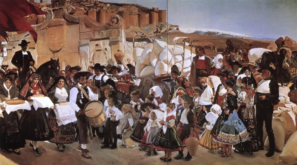 Joaquin Sorolla Bastida-Vision deEspaña-La fiesta del pan Castilla 1913
