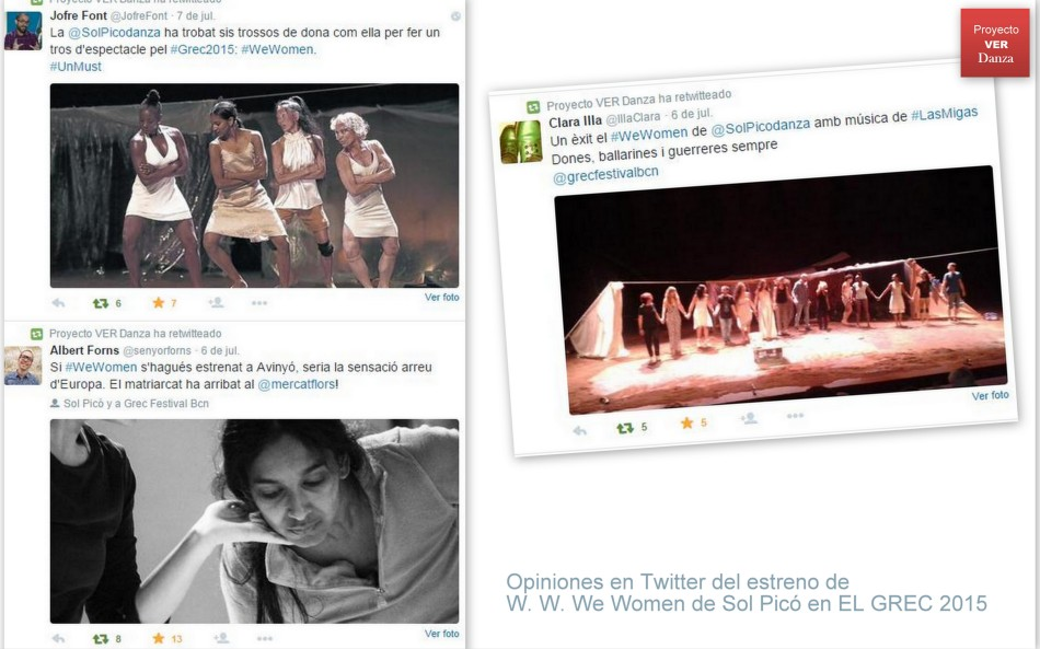Opiniones en Twitter tras el estreno en EL GREC de W. W. WE WOMEN