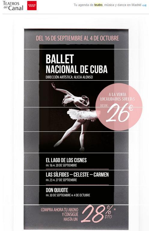 BALLET NACIONAL DE CUBA_Teatros del Canal sep 2015