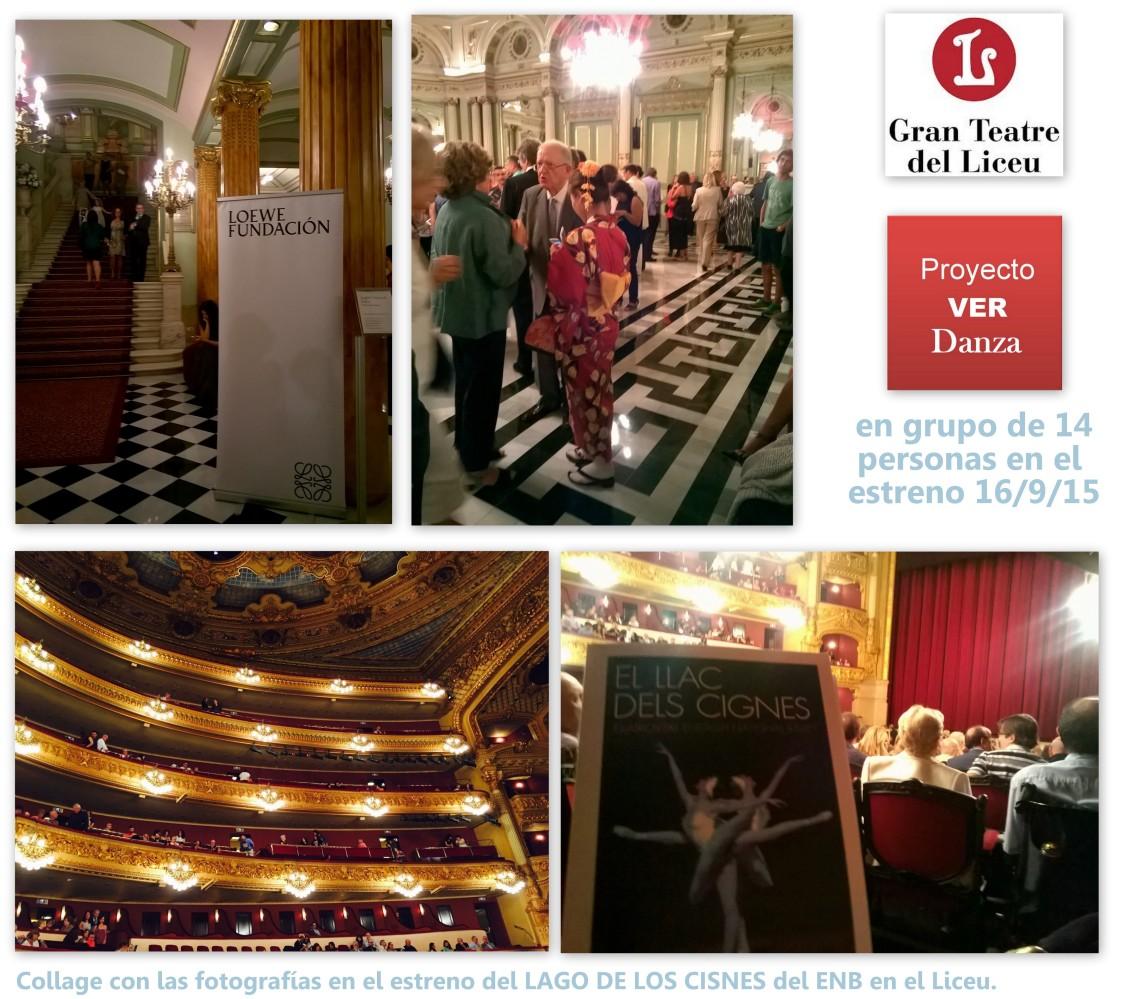 Fotografías en el Liceu el día del estreno de EL LAGO DE LOS CISNES del ENB, el 16 de septiembre del 2015.