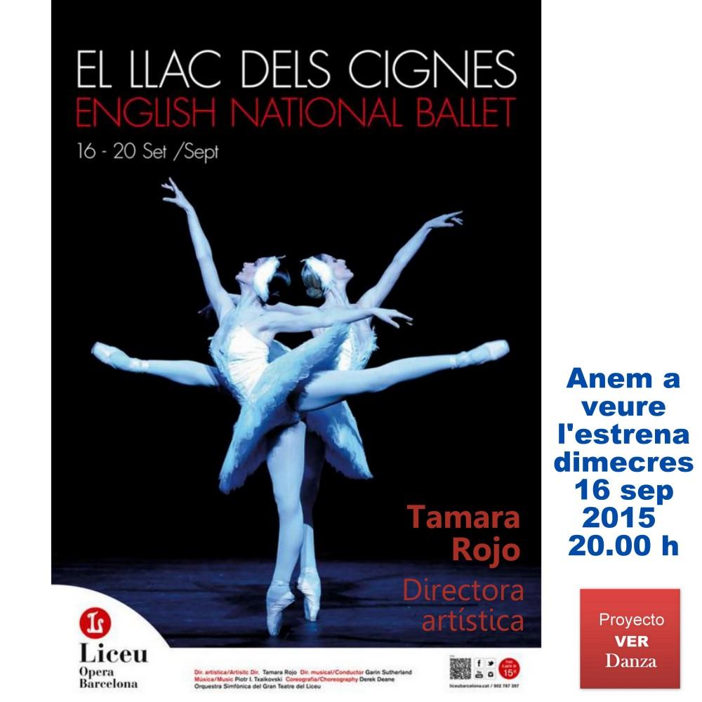 Un grupo de 14 irá a ver el LAGO DE LOS CISNES Tamara Rojo ENB en el Liceu en el estreno el 16 de septiembre del 2015