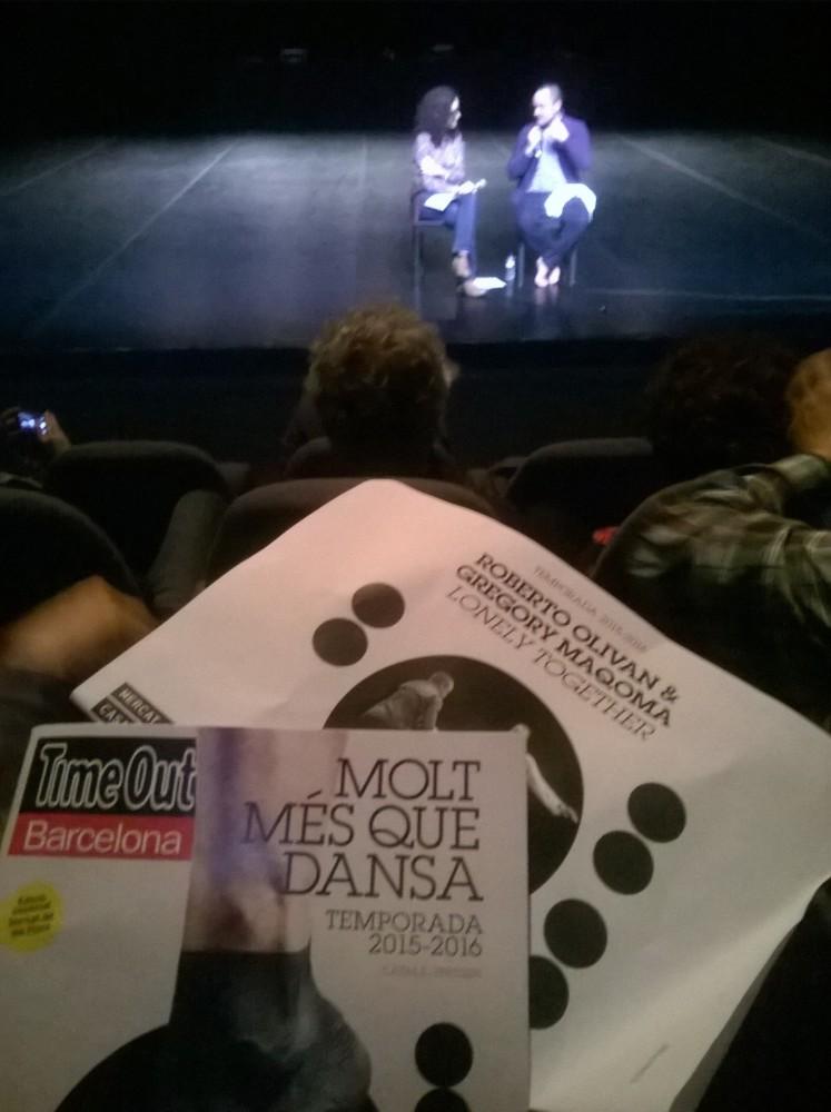 Conversacion con Roberto Olivan en 30 aniv MERCAT FLORS