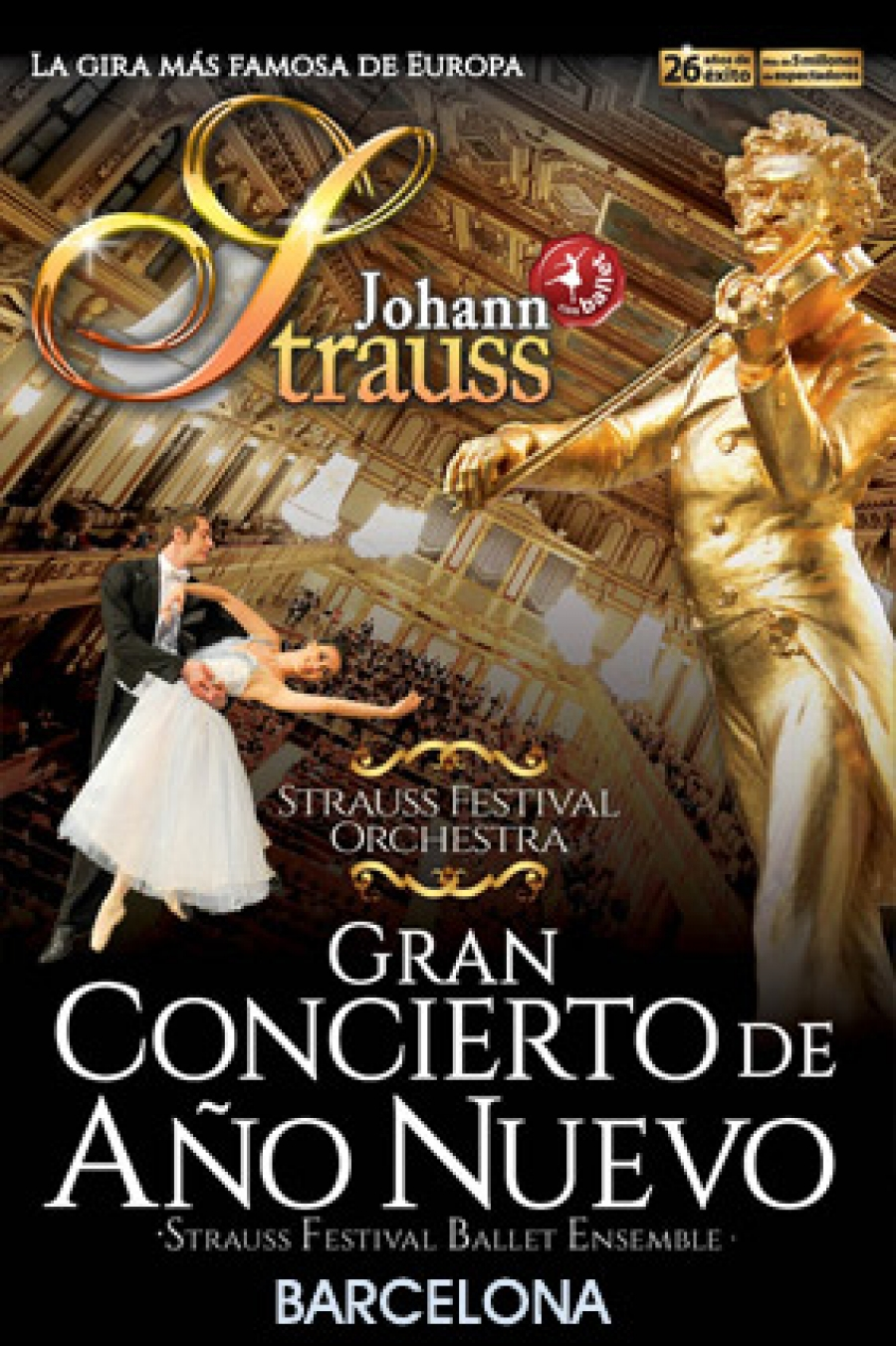 Estas Navidades Concierto de Año Nuevo con valses de Strauss, música para la felicidad, en el Liceu y el Palau de laMúsica