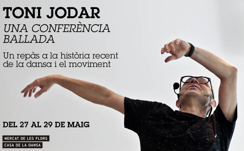 ¿Quieres conocer la historia de la danza y el movimiento desde los años 80? TONI JODAR te lo pone muy fácil con una CONFERENCIA BALLADA, demo conferencia, en el Mercat hastamañana