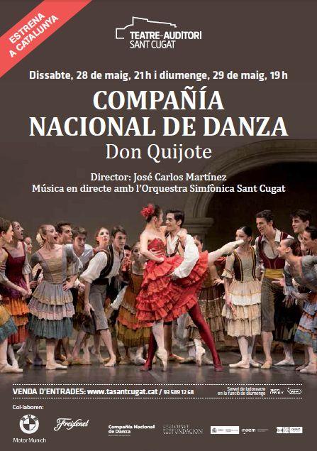 Don Quijote, el ballet más feliz, interpretado por la CND entusiasmó al público del TEATRE AUDITORI SANT CUGAT el pasado fin de semana. Fuimos un mini grupo de3