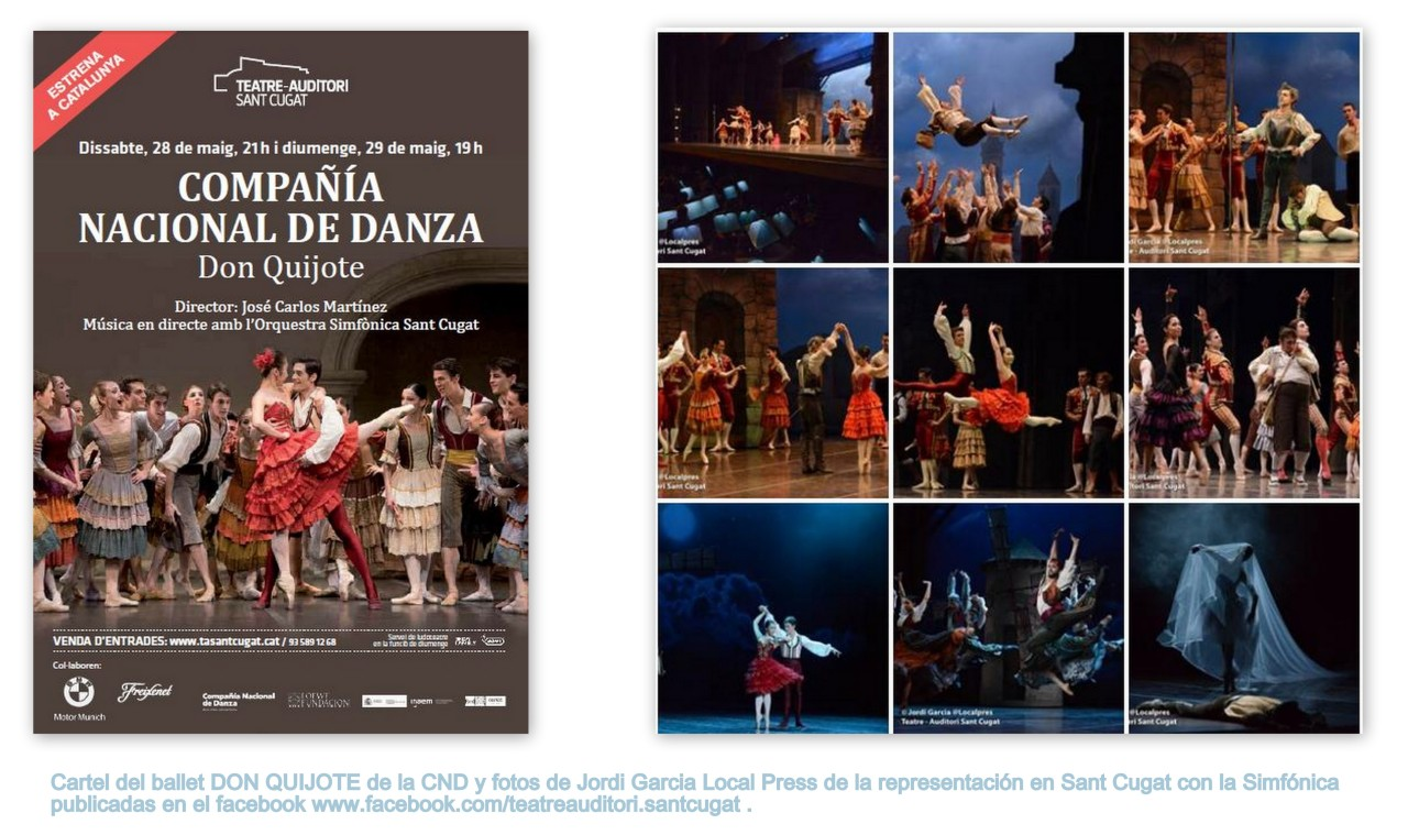 Don Quijote CND Auditori Sant Cugat_Cartel y Fotos prensa local TEATRE AUDITORI