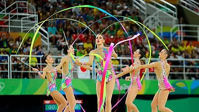 Ejercicio Cintas Samba Equipo Español Gimnasia Ritmica Rio 2016