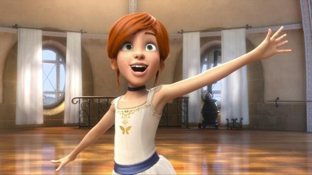 Escena de la película BALLERINA (2016). Felicia en la academia de ballet