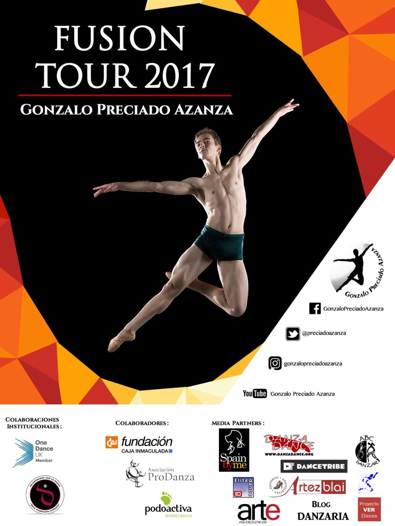 Gonzalo Preciado Azanza FUSION TOUR 2017 cartel