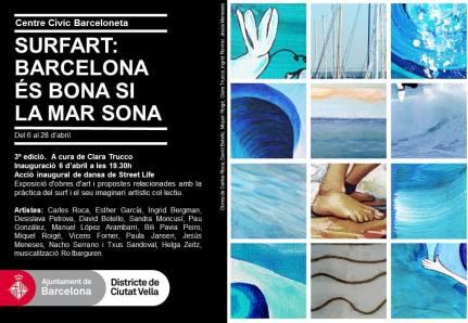 SurfArt, 3a edición. Inauguración 6 de abril 19:30 en CC Barceloneta