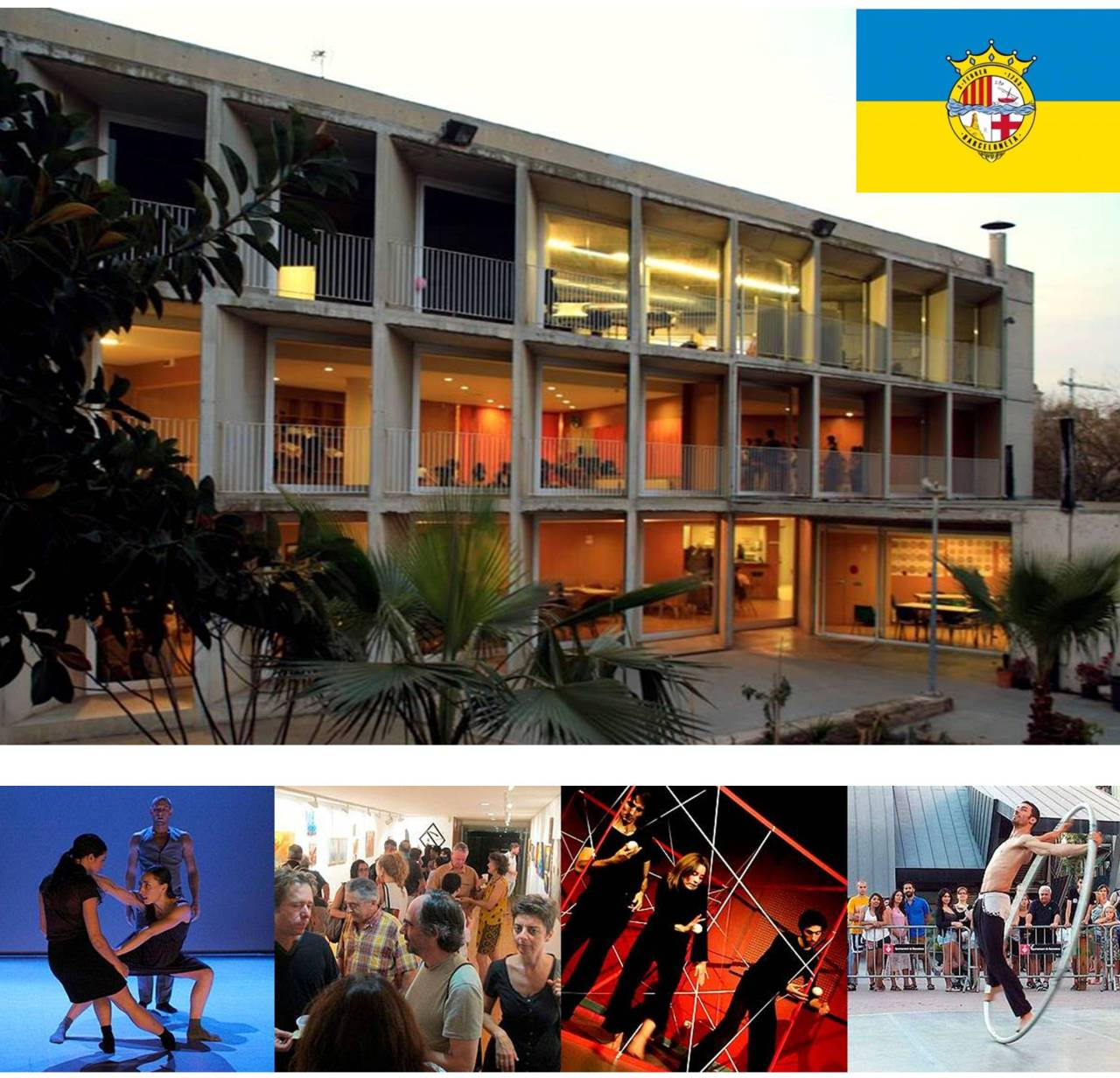 Frente al mar, el Centre Cívic Barceloneta sorprende con una agenda llena de artes visuales y danza. Este fin de STREET ART y México enMovimiento
