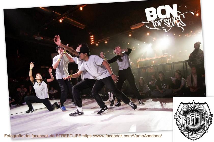 """Actuación de danza urbana hip hop del grupo STREET LIFE en las inauguraciones de las exposiciones SurfArt y de grafitis """"DEL MUR AL LLENÇ"""" el 6 de abril 19:30 en CC Barceloneta"""