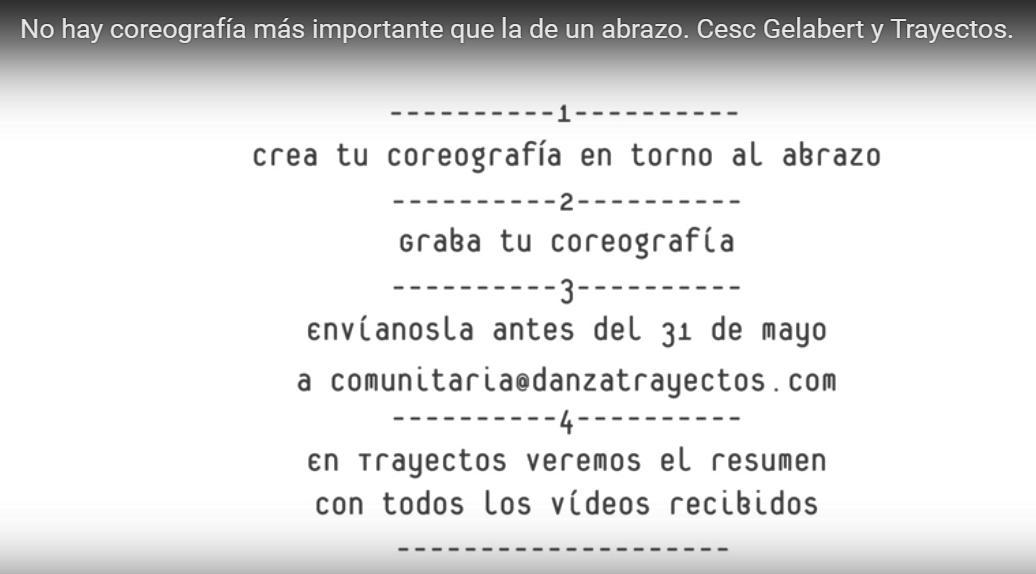 Resumen Bases DANZA COMUNITARIA Gelabert TRAYECTOS 2017