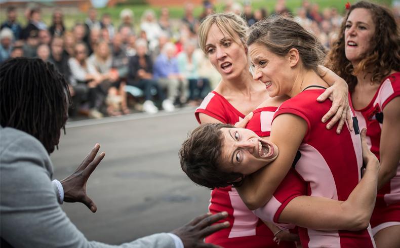 Ejemplos de danza inspirada en deporte. Este fin de LA PARTIDA de Cia Vero Cendoya en elMercat