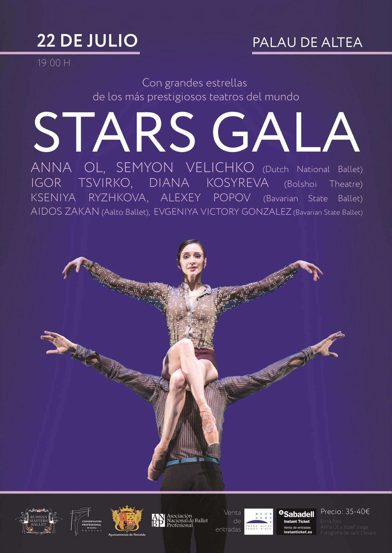 STARS GALA del ballet ruso este 22 de julio 19h en el Palau de Altea enAlicante