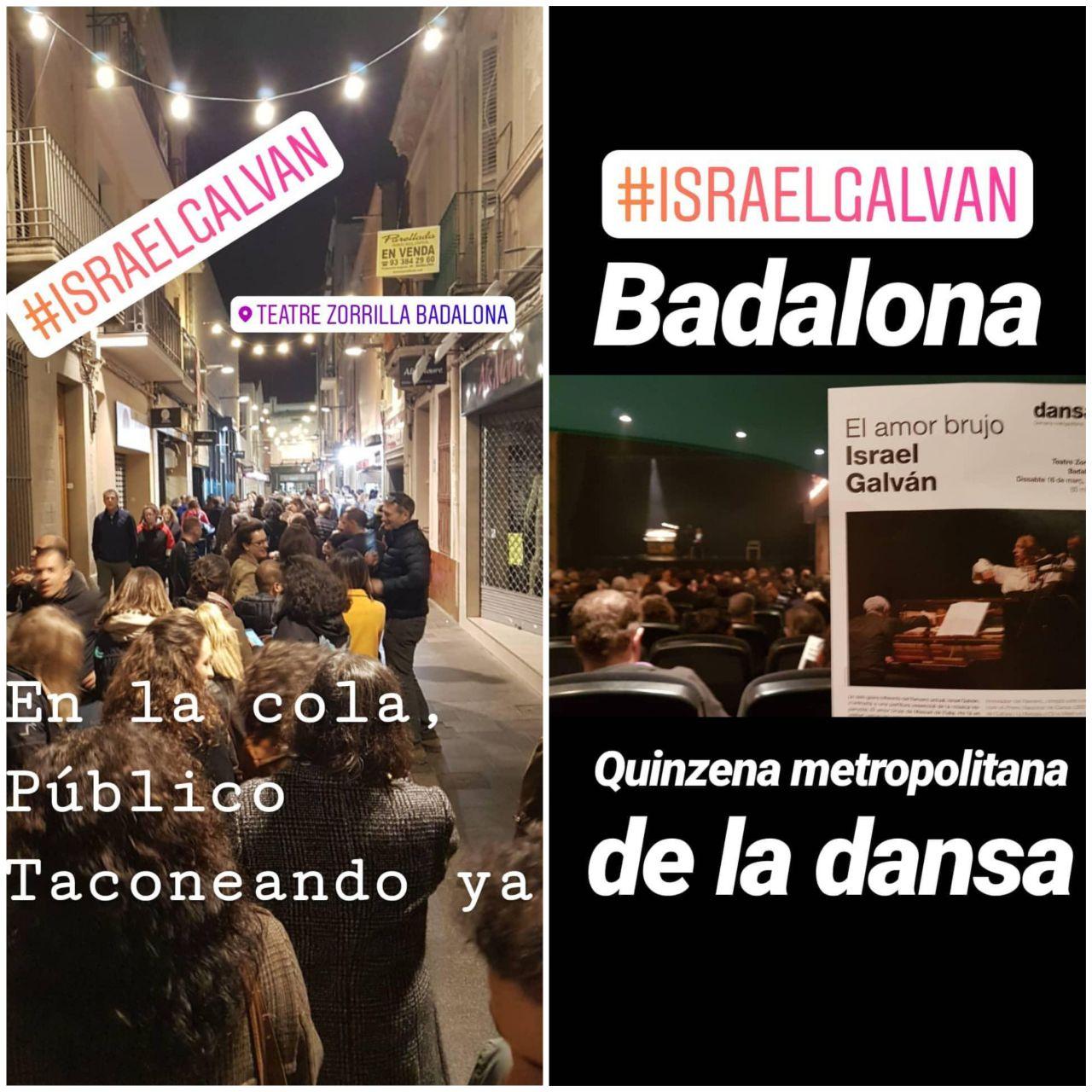 Cola para entrar a ver a Israel Galvan y su AMOR BRUJO en el Teatre Zorrilla de Badalona, el 16 de Marzo del 2019, QUINZENA METROPOLITANA DE LA DANSA